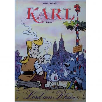 "Werbung - Literatur - Comics - Michael Apitz - Poster KARL-Comic Band 7 ""Lord am Rhein"""