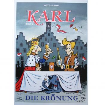 "Werbung - Literatur - Comics - Michael Apitz - Poster KARL-Comic Band 8 ""Die Krönung"""