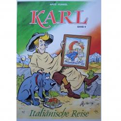 "Werbung - Literatur - Comics - Michael Apitz - Poster KARL-Comic Band 9 ""Italiänische Reise"""