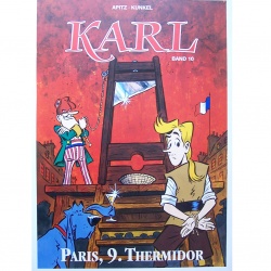 "Werbung - Literatur - Comics - Michael Apitz - Poster KARL-Comic Band 10 ""Paris, 9. Thermidor"""
