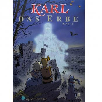 """Werbung - Literatur - Comics - Michael Apitz - Poster KARL-Comic Band 1 """"Der Spätlesereiter"""""""