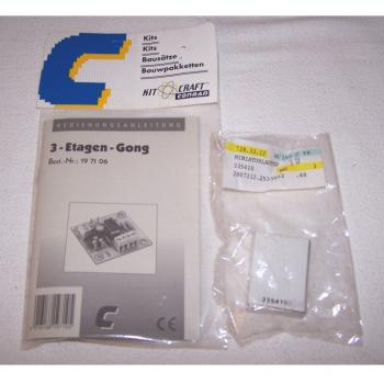 Heimwerker - Bausatz 3-Etagen-Gong mit Minilautsprecher