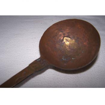 Haushalt - kochen & Backen - servieren - Kuperkelle und -sieb ca 32 cm lang - Kupferkelle offen
