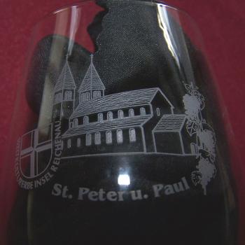 Haushalt - servieren - Souvenirs - Weinglas - Insel Reichenau - Kirche St. Peter und Paul