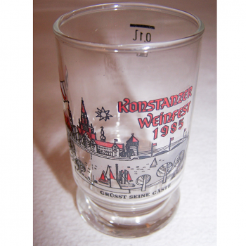 Haushalt - servieren - Souvenirs - Weinfestglas - Konstanzer Weinfest - 1985 Hafen