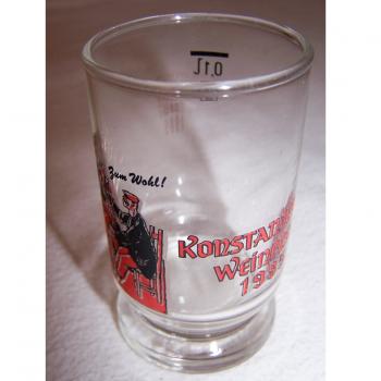 Haushalt - servieren - Souvenirs - Weinfestglas - Konstanzer Weinfest - 1985 Zum Wohl