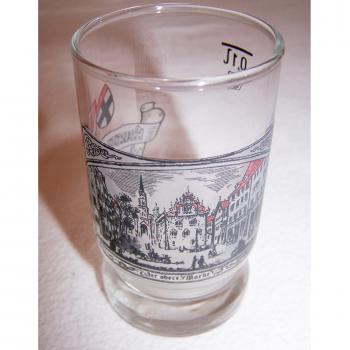 Haushalt - servieren - Souvenirs - Weinfestglas - Konstanzer Weinfest - 1987 Marktstätte (gerahmt)