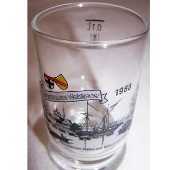 Haushalt - servieren - Souvenirs - Weinfestglas - Konstanzer Weinfest - 1988 Hafen