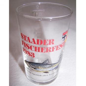 Haushalt - servieren - Souvenir - Weinfestglas - Staader Fischerfest 1983
