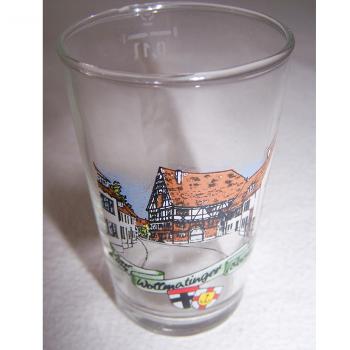 Haushalt - servieren - Souvenir - Weinfestglas - Wollmatinger Dorffest - Engelsteig