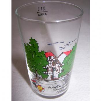 Haushalt - servieren - Souvenir - Weinfestglas - Wollmatinger Dorffest 1984 - Löwenbrunnen