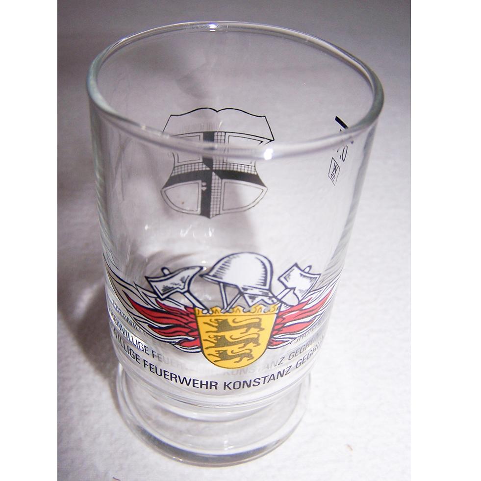 Haushalt - servieren - Souvenirs - Weinglas - Freiwillige Feuerwehr Konstanz