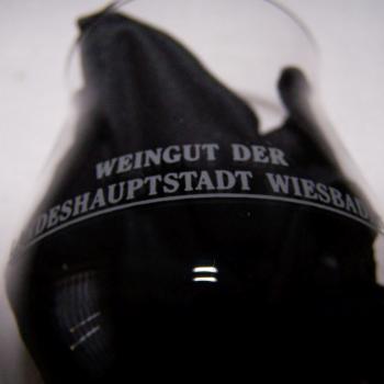 Haushalt - servieren - Souvenirs - Weinglas - Wiesbaden - Neroberg-Tempel - Rückseite