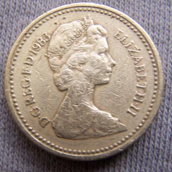Hobby - Münzen - Großbrittanien - 1 Pound 1983 - Revers