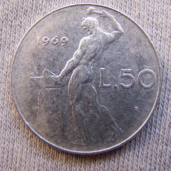 Hobby - Münzen - Italien - 50 Lire - Avers