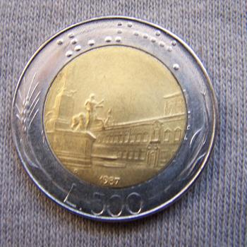 Hobby - Münzen - Italien - 500 Lire - Avers