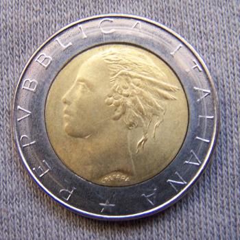 Hobby - Münzen - Italien - 500 Lire - Revers