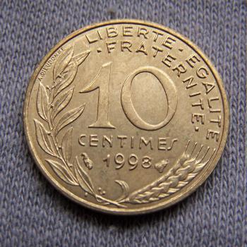 Hobby - Münzen - Frankreich - 10 Centimes - 1998 - Avers