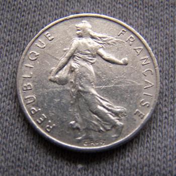 Hobby - Münzen - Frankreich - 1/2 Franc - 1983 - Revers