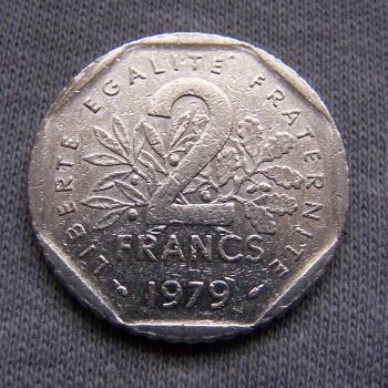 Hobby - Münzen - Frankreich - 2 Francs - 1979 - Avers