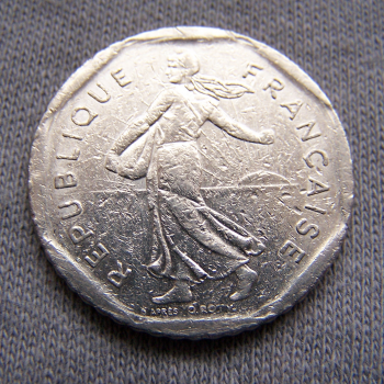 Hobby - Münzen - Frankreich - 2 Francs - 1979 - Revers