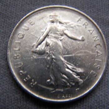 Hobby - Münzen - Frankreich - 5 Francs - 1970 - Revers