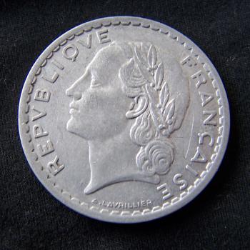 Hobby - Münzen - Frankreich - 5 Francs - 1949 - Revers