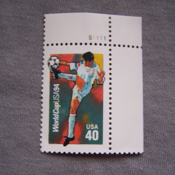 Hobby - Briefmarken - USA - 40 c -Fußball Worldcup USA 1994