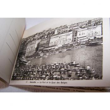 Souvenirs - Marseille - historisches Postkartenalbum mit 20 Motiven - Hafen und Quai des Belges