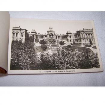 Souvenirs - Marseille - historisches Postkartenalbum mit 20 Motiven - Palais Longchamp