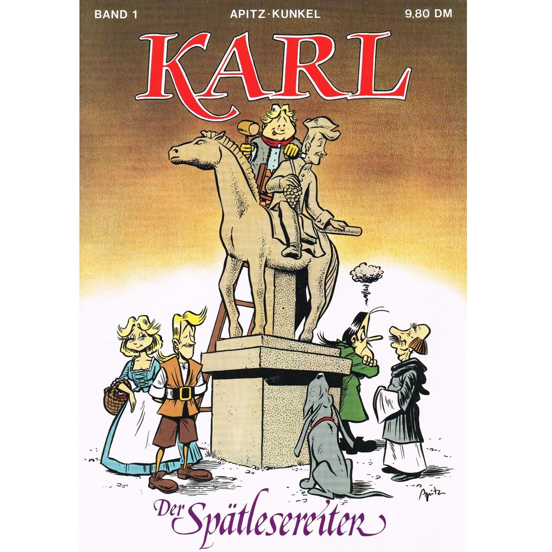 Literatur - Comics - KARL-Comic Band 1 - Der Spätlesereiter - Erstausgabe von 1988 mit Signatur von Michael Apitz