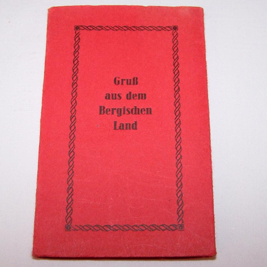 Souvenirs - Minifoto-Leporello - Bergisches Land