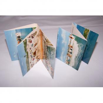Souvenirs - Minifoto-Leporello von Langeoog - aufgeklappt