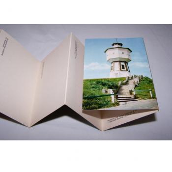 Souvenirs - Minifoto-Leporello von Langeoog - Rückseite