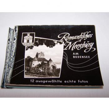 Historisches Minifoto-Heftchen von Meersburg am Bodensee