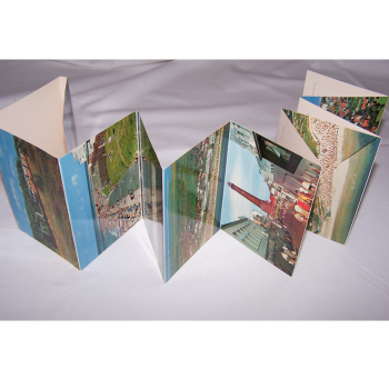 Souvenirs - Minifoto-Leporello von Borkum - geöffnet