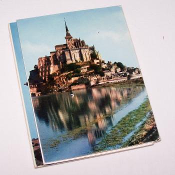 Souvenirs - Minifoto-Leporello Mont Saint-Michel - Rückseite