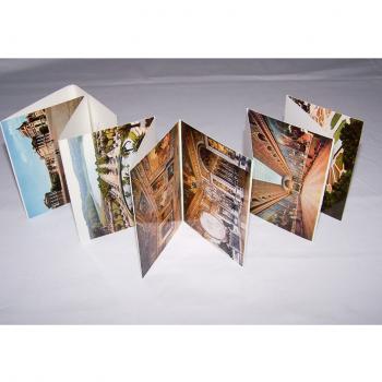 Souvenirs - Minifoto-Leporello von Versailles - aufgeklappt