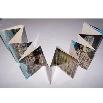 Souvenirs - Minifoto-Leporello Salzburg - aufgeklappt