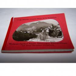 Souvenirs - Minifoto-Heftchen Wintersportgebiet Füssen-Schwangau-Königsschlösser
