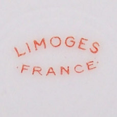 Haushalt - servieren - Sammeltassen - Limoges France - Manufakturstempel