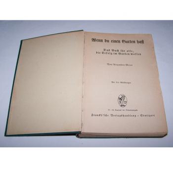 Literatur - Sachbücher - Wenn Du einen Garten hast - Titelseite innen