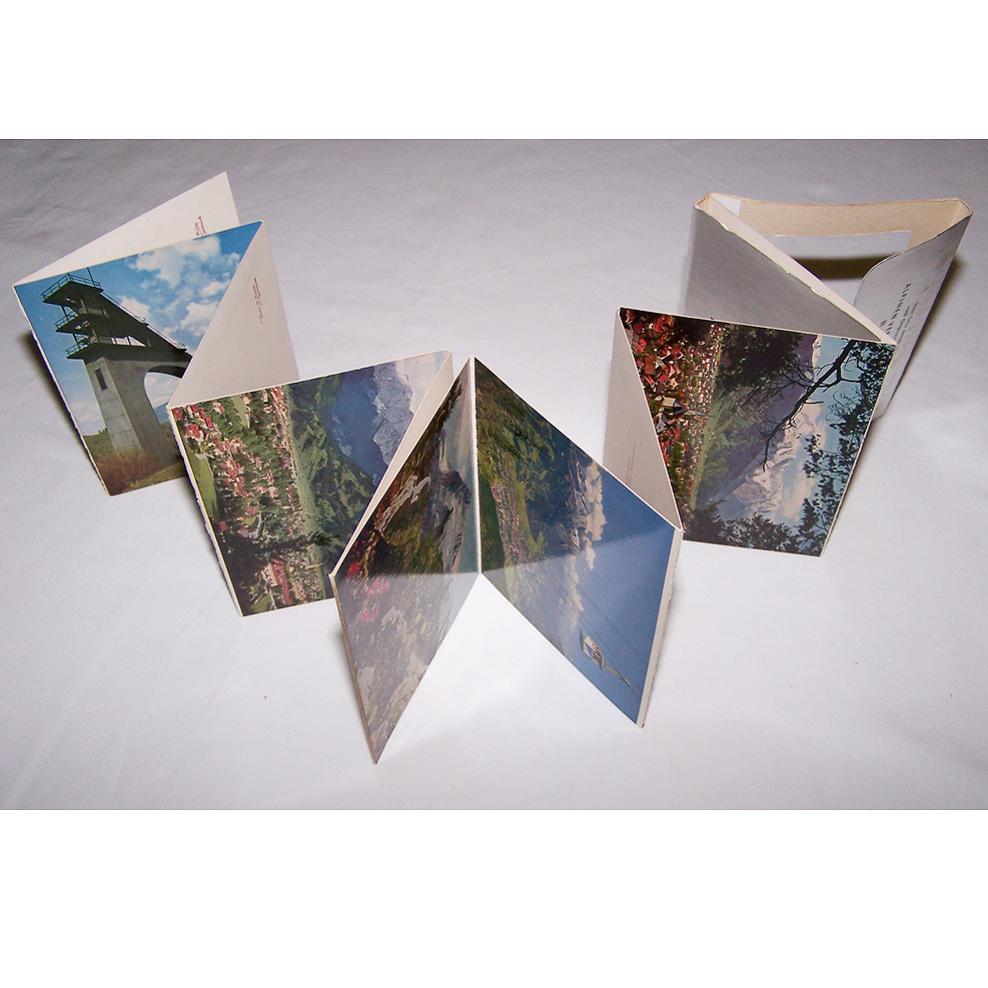 Souvenirs - Minifoto-Leporello - Garmisch-Partenkirchen - aufgeklappt