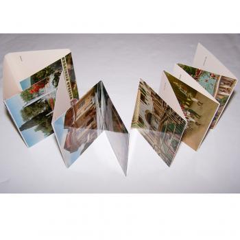 Souvenirs - Minifoto-Leporello - Weltbad Kissingen (14 Fotos) - aufgeklappt