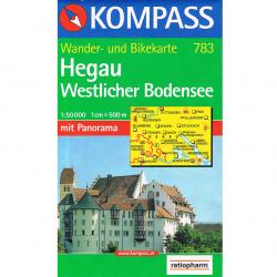 Hobby - outdoor - Wander- und Bike-Karte Hegau Westlicher Bodensee