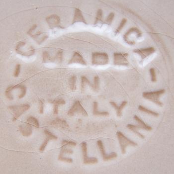 Haushalt -servieren - Geschirr - Pizzateller Castellania - Manufakturstempel