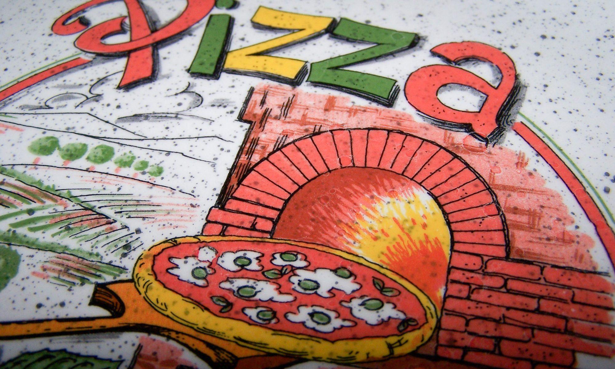 Haushalt - servieren - Geschirr - Pizzateller - Ceramica Ernana - Dekor-Ausschnitt