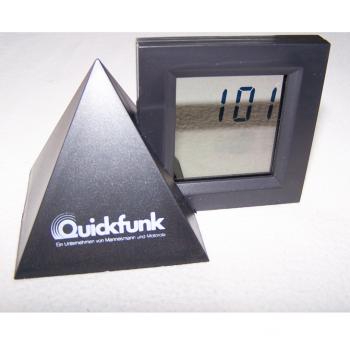 Haushalt - messen & regeln - Digital-Alarm-Tischuhr mit durchsichtigem Display 1:01 Uhr
