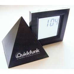 Haushalt - messen & regeln - Digital-Alarm-Tischuhr mit durchsichtigem Display 1:04 Uhr