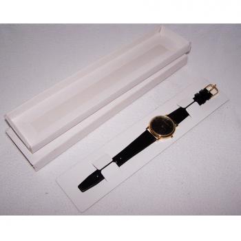 Schmuck - Uhren - Armbanduhr mit schwarzem Lederband, Schwarzes Ziffernblatt und goldfarbenes Gehäuse - Motorola - originalverpackt